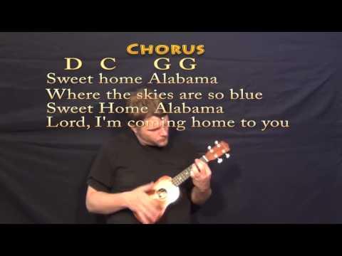 Sweet Home Alabama - Soprano Ukulele Cover Lesson with Chords, Lyrics