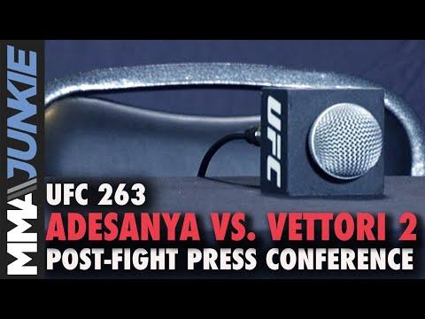 UFC 263: Adesanya vs. Vettori 2 post-fight press conference