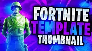 "NEW ""LEAKED"" Fortnite Skins June 2019 Thumbnail Template! - (FREE Fortnite GFX Template)"