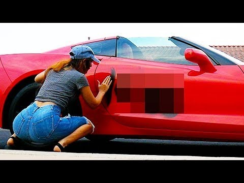 someone spray painted my car…