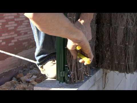 Comment installer une clôture de brande de bruyère?