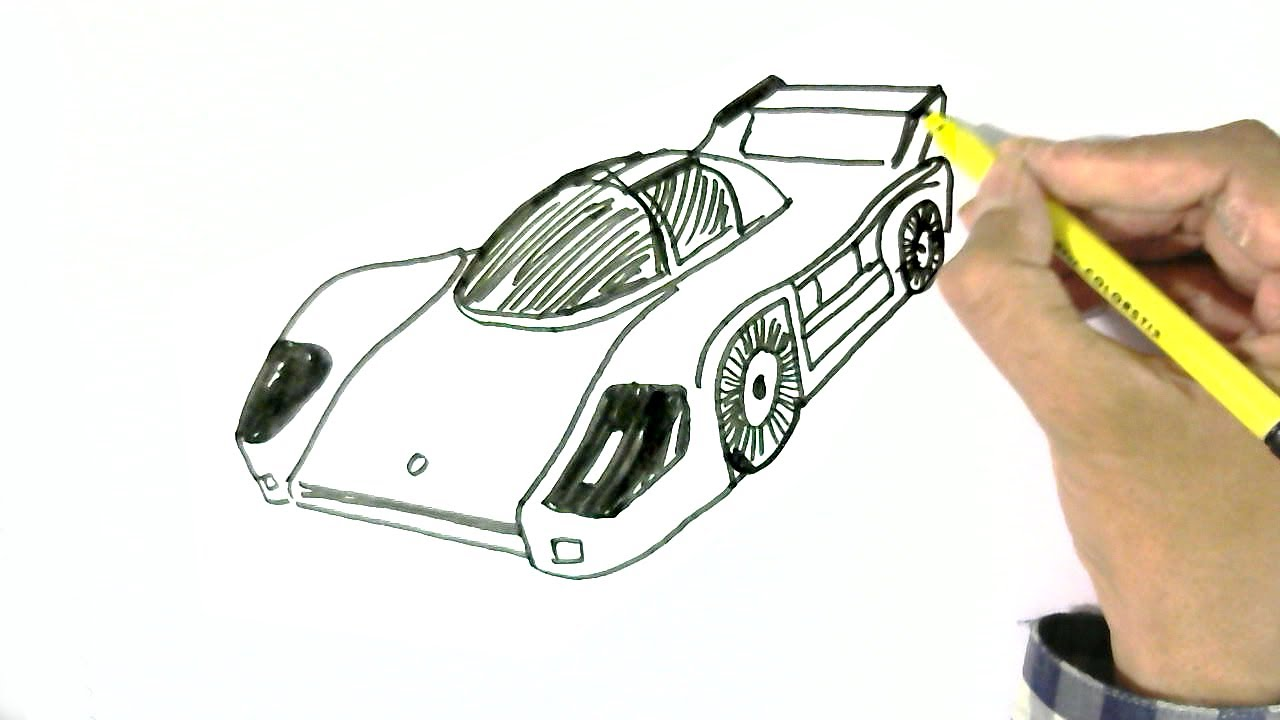 How To Draw A Racing Or Sports Car In Easy Steps For Children