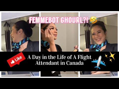 A DAY IN THE LIFE OF A FLIGHT ATTENDANT IN CANADA ✈️♥️