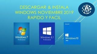 DESCARGAR Y INSTALAR WINDOWS 8.1 NOVIEMBRE 2019.