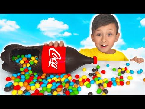 Senya Сhocolate & Jelly Soda Challenge for Mom