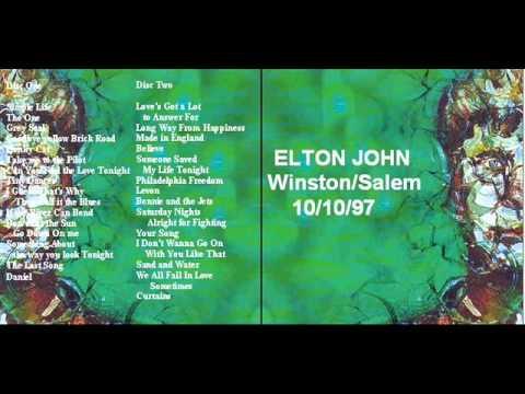 """ELTON JOHN """"WINSTON SALEM"""" 1997"""