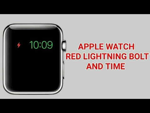 Apple Watch Red Lightning Bolt And Time (Fixed)
