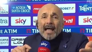Fiorentina Inter Lite furiosa Spalletti e Caressa sul rigore