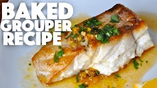Baked Grouper Recipe - baked fish recipes - keto recipes - keto diet - seafood dinner - ketogenic