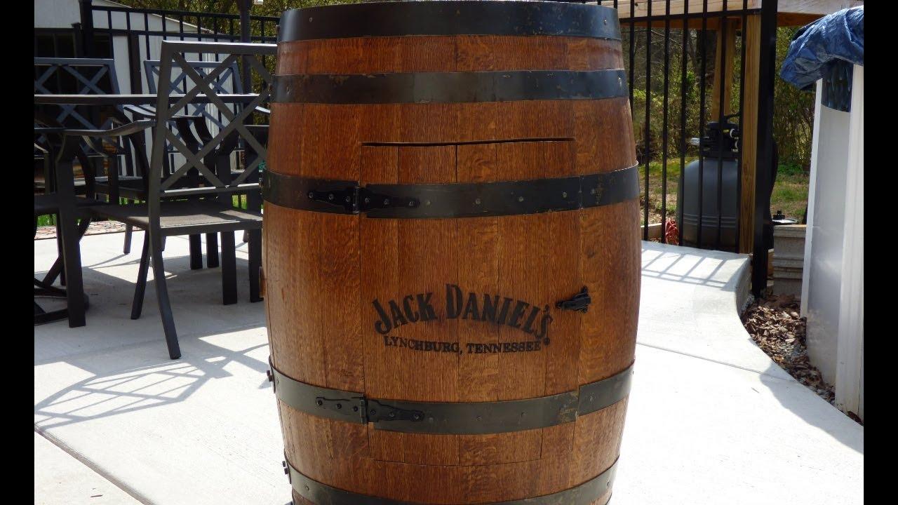 how to make a jack daniel s whiskey barrel liquor cabinet