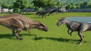 T-Rex VS Acrocanthosaurus VS I-Rex VS Spinosaurus VS I-Raptor VS Giga VS Carcharodontosaurus