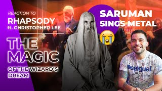 Metalhead Saruman 🧙‍♂️ Rhapsody ft. Christopher Lee - The Magic of the Wizard's Dream -RafaReactions