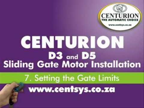 Part 7 - Setting the Gate Open & Closed Limits - CENTURION - D5 and D3  installation