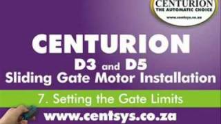 part 7 setting the gate open closed limits centurion d5 and d3 installation
