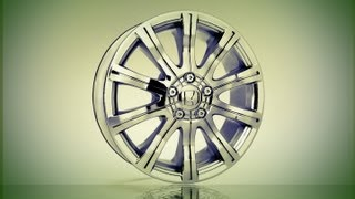 Видеоурок моделирование автомобильного диска в 3D Max 2011 RUS