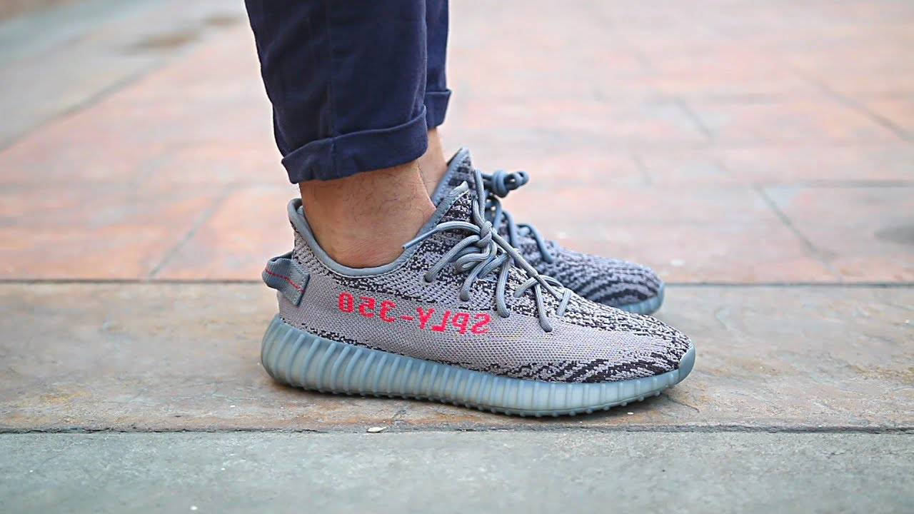 ffc7ac163e303 Adidas Yeezy Boost 350 V2 Beluga 2.0 On Feet - YouTube