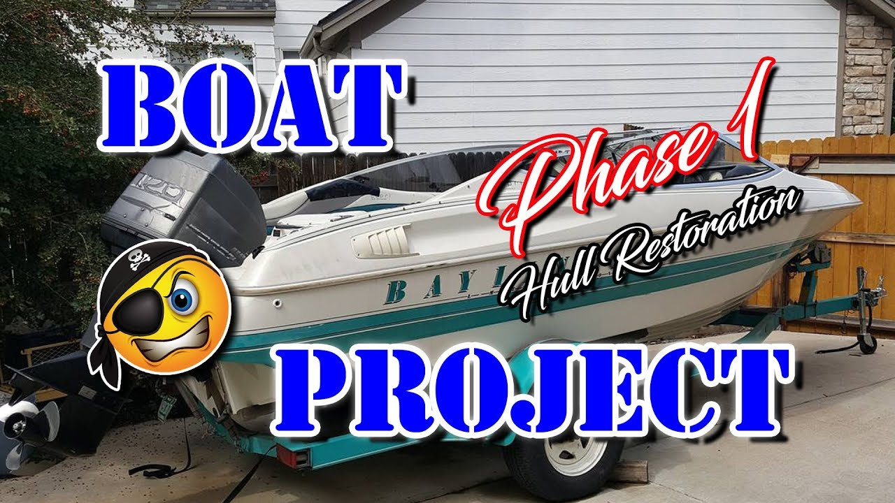 Cheap How To Restore Gel coat on a Boat - Decal Lettering Pinstripe Removal  Repair gelcoat boat hull