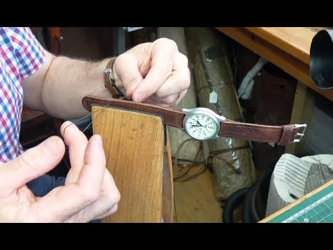 Leather Craft - Making A Watch Strap From 200 Year Old Leather