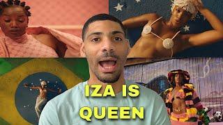 """American reaction IZA """"Gueto"""" 👸🏾🇧🇷official music video"""