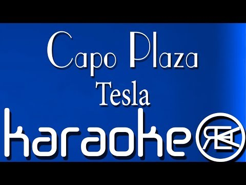 Capo Plaza - Tesla (feat. Sfera Ebbasta & DrefGold) | Karaoke lyrics, Instrumental, Base