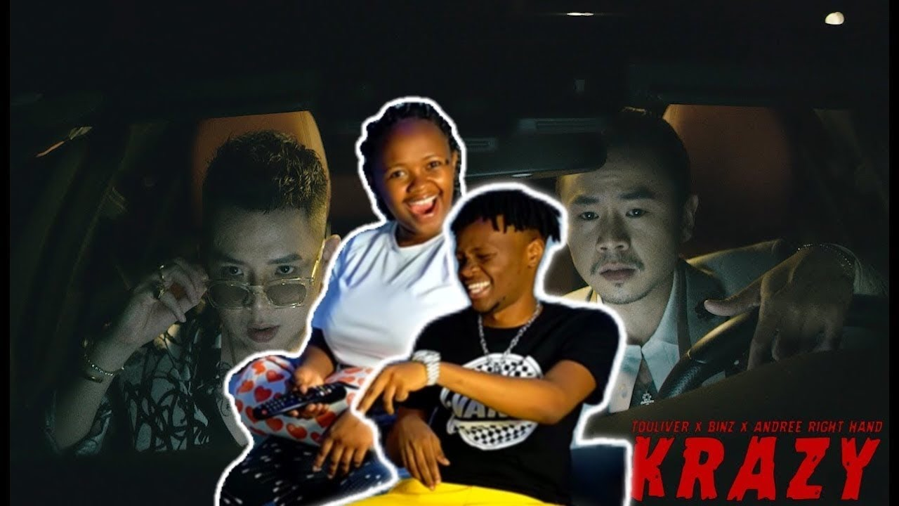 TOULIVER x BINZ x ANDREE RIGHT HAND - KRAZY [FT EVY] | AFRICAN REACTION VIDEO