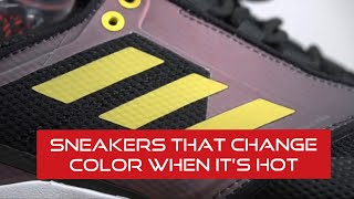 ADIDAS TERREX SNEAKERS THAT CHANGE COLOR TO BLAZING RED WHEN IT'S HOT!!!