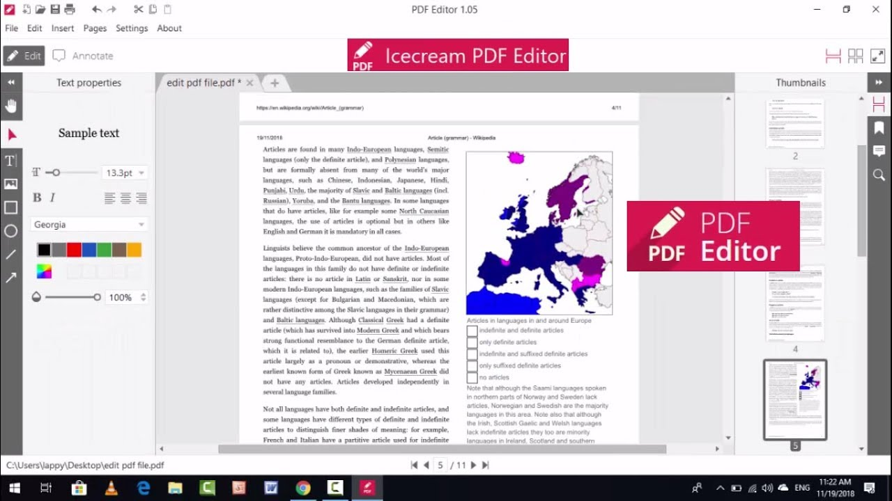 New Free PDF File Editor For Windows 10 PC Icecream PDF Editor