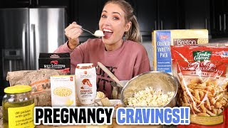 EATING ALL MY PREGNANCY CRAVINGS!!!