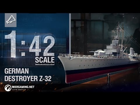 World of Warships - 1:42 Scale: German Destroyer Z-32