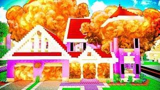 Сосед ВЗОРВАЛ МНЕ ДОМ в Майнкрафт! Как Достать Соседа В Майнкрафте | Приколы Minecraft