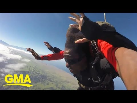 Willie Moore Jr. - WATCH! Viola Davis shares skydiving video 'The exercise in letting go'