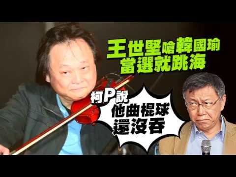 王世堅嗆韓國瑜當選就跳海-柯p-他曲棍球還沒吞-台灣蘋果日報