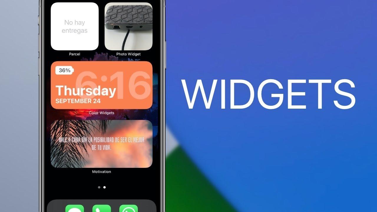 Los Widgets más interesantes para iOS 14