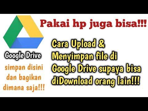 Cara berbagi file penting menggunakan google drive supaya bisa di download orang lain.