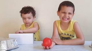 kids play funny videos,hamza and anas