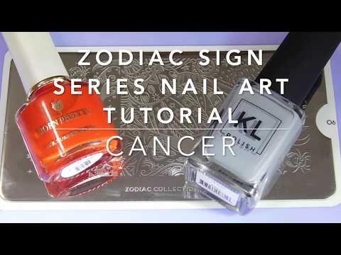 Nail Art Tutorial | Zodiac Signs Series | Cancer Stamping Manicure | KL Polish, MoYou London ✓ thumbnail