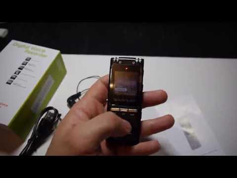 GHB 8GB Enregistreur Vocal Enregistreur Numérique Portable Stéréo Dictaphone Lecteur Commentaires