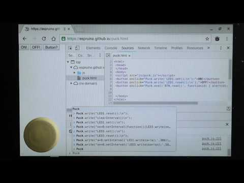 Puck.js: Control Hardware directly from a Web Page