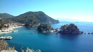 Town views from Parga Castle, Greece