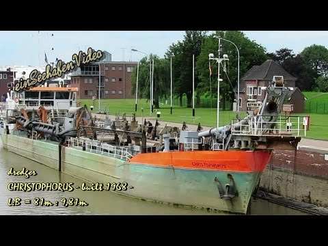 hopper barge CHRISTOPHORUS PDKQ IMO 6809769 Emden dredger Baggerschiff