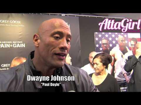 "Dwayne Johnson ""The Rock"" talks Pain & Gain at Miami Premiere"