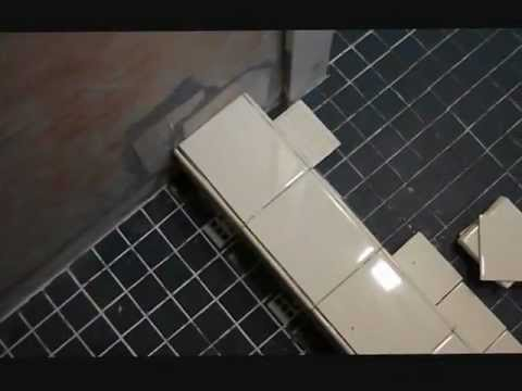 The Shower Curb Gets Tile With A Backup Plan Youtube