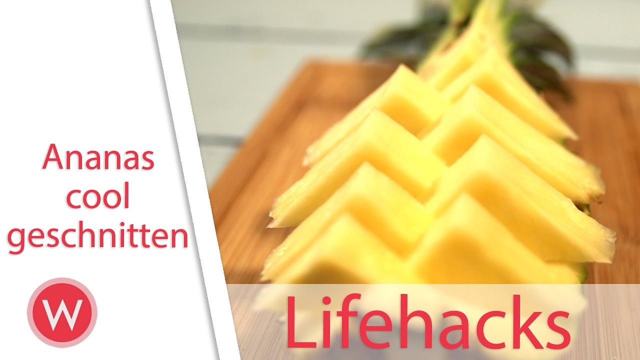 lifehack ananas cool easy schneiden cutting pineapple youtube. Black Bedroom Furniture Sets. Home Design Ideas