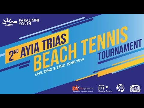 LIVE🔴2nd Ayia Trias International Beach Tennis Tournament