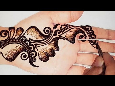 easy arabic arabic shaded easy arabic full hand mehndi design