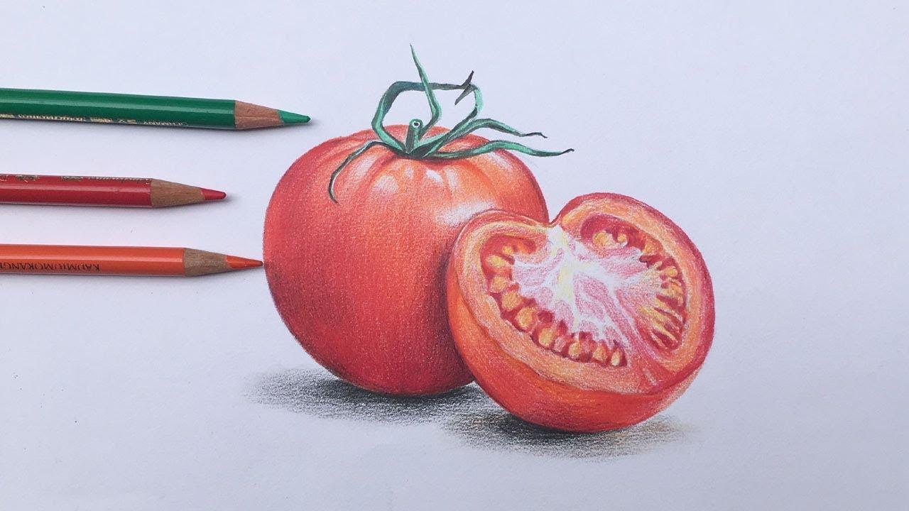 how do you draw a tomato