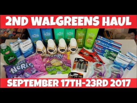 2nd Walgreens MONEYMAKER Haul September 17th-23rd 2017