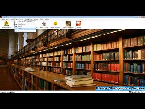 Library  Management Software Design in Visual Basic.Net || final year #project