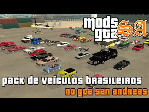 GTA SA - Pack De Veiculos Brasileiros Para GTA San Andreas