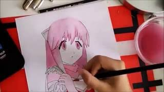 Drawing Lucy from elfen lied